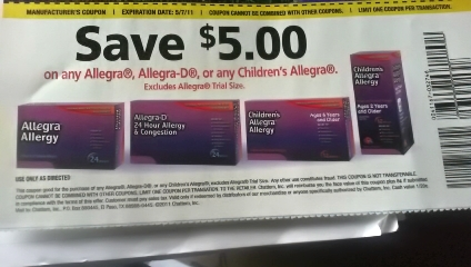 graphic relating to Allegra D Coupons Printable called Allegra coupon $5 - 6 02 coupon codes